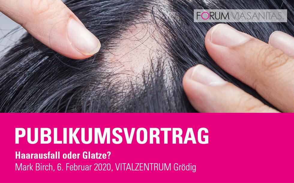 Publikumsvortrag mit Trichilogist Mark Birch - Haarausfall oder Glatze?