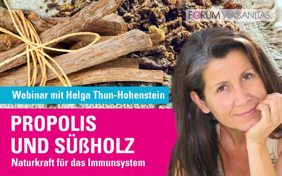 Propolis und Süßholz, Beitrag von Helga Thun-Hohenstein